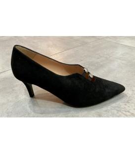 Zapato negro botones