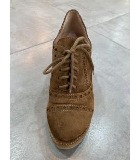 Zapato camel cuña